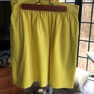 Skirt bright yellow